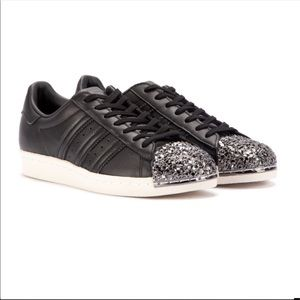 3d Sneakers Black 80's Metal Toe Adidas Superstar Nwt n0v8mNw
